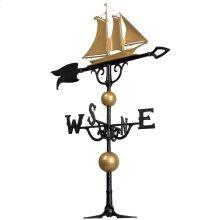"""46"""" Yacht Weathervane - Bronze/Gold"""