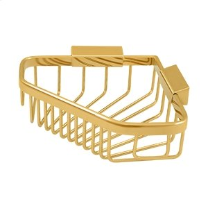 """Wire Basket 8-1/4""""x 6-7/8"""" Pentagon - PVD Polished Brass Product Image"""