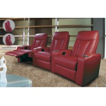 2S SOFA (LR+XRR), RED LTHR MATCH
