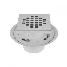 "White - 2"" or 3"" PVC Complete Square Shower Drain"