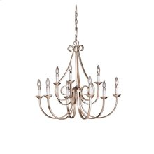 Dover 9 Light 2 Tier Chandelier Brushed Nickel