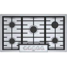 """Benchmark 36"""" Gas Cooktop, 5 Burners, Stainless Steel"""