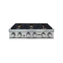 "36"" Rangetop, Stainless Steel, Liquid Propane/High Altitude"