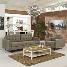 Empress Armchair and Sofa Set of 2 in Oatmeal