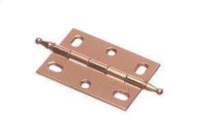 """2 1/2"""" x 1 3/4"""" Mortised Hinge/Minaret Tip - Polished Copper Product Image"""