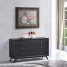 Tracy Wood Dresser in Black Product Image