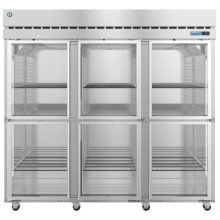 R3A-HG, Refrigerator, Three Section Upright, Half Glass Doors with Lock