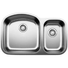 Blanco Stellar® 1.6 Bowl - Stainless Steel Refined Brushed Finish