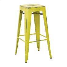 """Bristow 30"""" Antique Metal Barstool, Antique Lime Finish, 2-pack"""