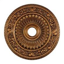 Floral Wreath Medallion 24 Inch in Antique Bronze Finish