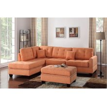 Citrus Reversible Chaise Sectional with Ottoman Included