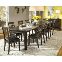 9 PIECE SET (EXTENSION TABLE AND 8 CHAIRS)