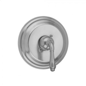 Antique Brass - Round Step Plate With Smooth Lever Trim For Pressure Balance Valve (J-PBV) Product Image