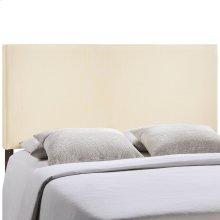 Region King Upholstered Fabric Headboard in Ivory