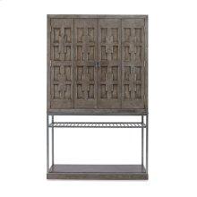 Casa Bella Burl Bar Cabinet Timber Gray Finish