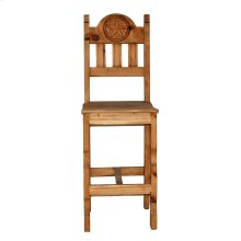 "30"" Wood Seat Star Barstool"