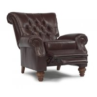Equestrian Leather High-leg Recliner Product Image