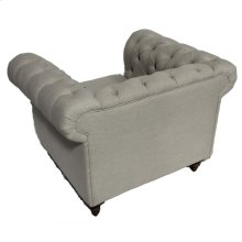 Linen Tufted Chair