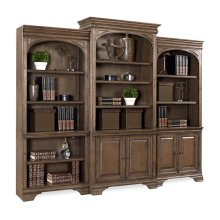 "84"" Lighted Door Bookcase (w Full Return)"