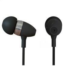 Polaroid Metal Smartphone Stereo Earbuds with Built-In Microphone - PHP729-BK, Black