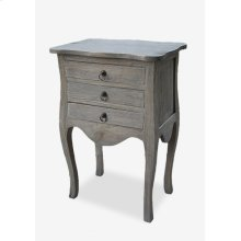 (LS) Promenade 3 drawer accent table - grey..(19.75X13.5X29)..