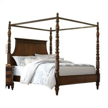 Eastern King Canopy Bed, Warm Cherry