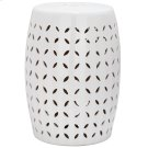 Lattice Petal Garden Stool - White Product Image