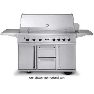 """53"""" Ultra-Premium T-Series Grill - VGBQ (53"""" wide with four standard 25,000 BTU stainless steel burners (Natural Gas))"""