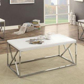 Kuzen 3 Piece Table Set White