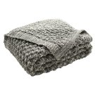 Janan Knit Throw - Dark Grey / Natural Product Image