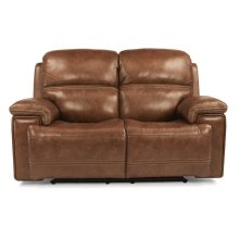 Fenwick Leather Power Reclining Loveseat with Power Headrests