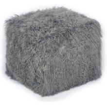 Tibetan Sheep Grey Pouf