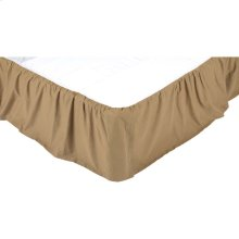 Solid Khaki King Bed Skirt 78x80x16