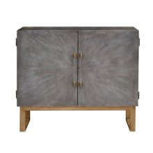 Two Door Shagreen Bar Cabinet