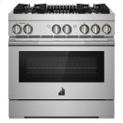 "RISE 36"" Dual-Fuel Professional Range with Gas Grill Product Image"