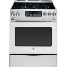 "GE Cafe™ Series 30"" Free Standing Radiant Range with Storage Drawer"