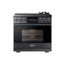 "36"" Pro Gas Range, Graphite Stainless Steel, Liquid Propane"