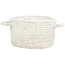 White Chenille Creations Basket