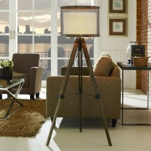 Fortune Floor Lamp in Antique Silver