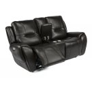 Trip Leather Power Reclining Loveseat with Console and Power Headrests Product Image