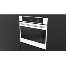 """30"""" Touch Control Single Oven - White Glass"""