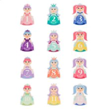 Monthly Princess Belly Stickers (12 pc. set)