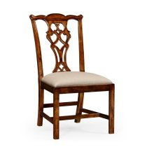 Chippendale Style Classic Walnut Chair (Side)