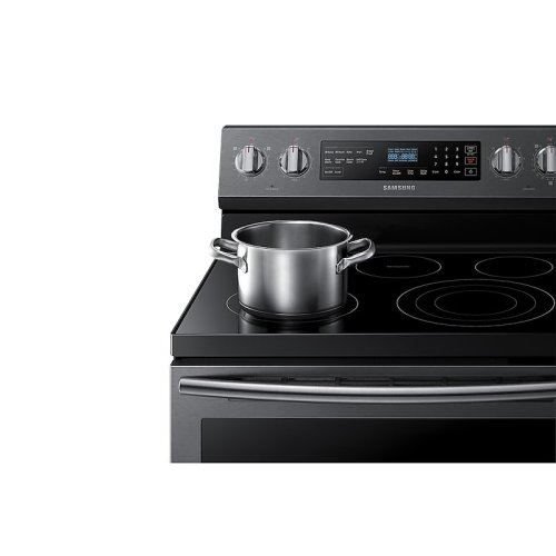 5.9 cu. ft. Freestanding Electric Range with True Convection in Black Stainless Steel