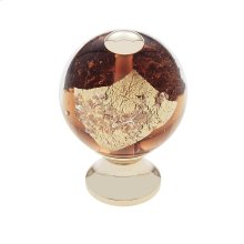 24k Gold 30 mm Orange Knob