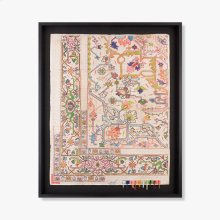 0300980043 Vintage Rug Map Wall Art