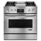 "Pro-Style® 36"" Dual-Fuel Range with Griddle and MultiMode® Convection Product Image"