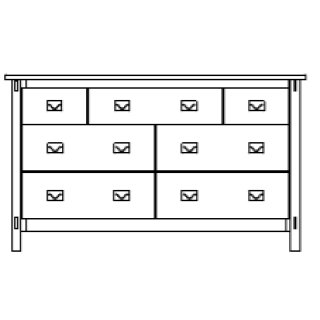 "Savannah 7 Drawer 66"" Dresser"
