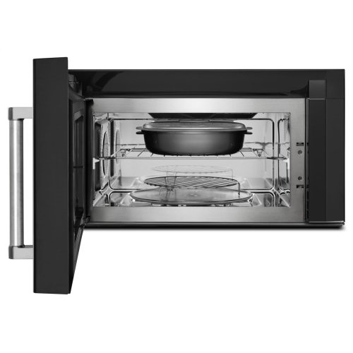 1000-Watt Convection Microwave Hood Combination - Black Stainless Steel with PrintShield™ Finish