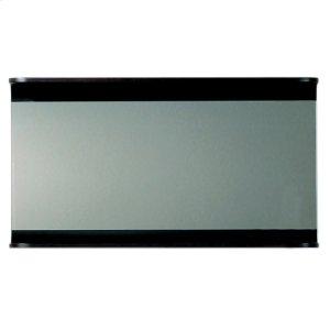 Aeri large, rectangular wall mount mirror with integral wood shelf. Product Image
